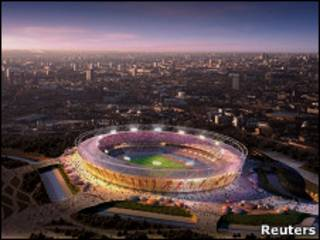 电脑合成的伦敦奥运主场馆图
