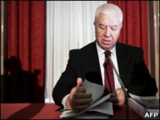 Fernando Teixeira dos Santos, ministro português das Finanças