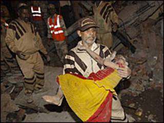 इमारत ढहने से घायल एक बच्ची