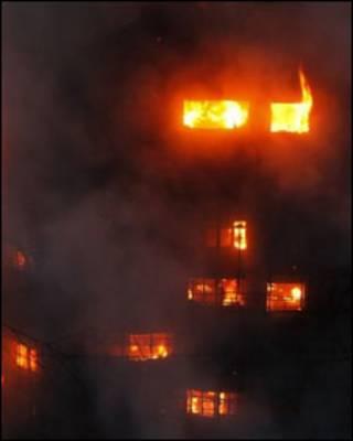 Khu nhà cao 28 tầng là nơi ở của 150 gia đình bị cháy hôm thứ Hai 15/11