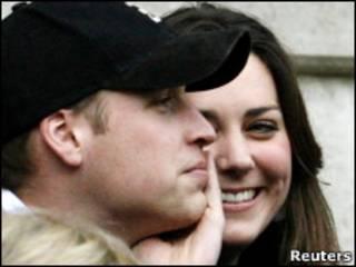 Принц Уильям и Кейт Миддлтон на матче рэгби