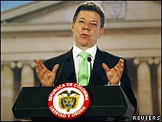 O presidente da Colômbia, Juan Manuel Santos/Reuters