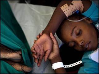 Wani mai fama da kwalara a Haiti