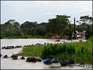 Rio San Juan en la frontera entre Nicaragua y Costa Rica