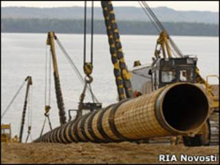 Строительство нефтепровода ВСТО