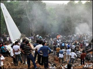 Крушение самолета в Индии в мае