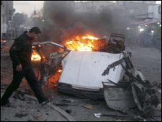 تفجير في غزة