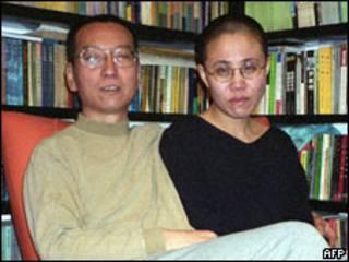 Ông Lưu Hiểu Ba và vợ khi còn chưa vào tù