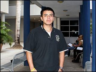 José Salcedo, en la Universidad de Miami Dade.