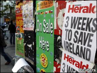 Плакаты на улицах Дублина
