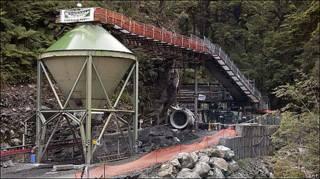 Una de las entradas a la mina Pike River, en Nueva Zelanda
