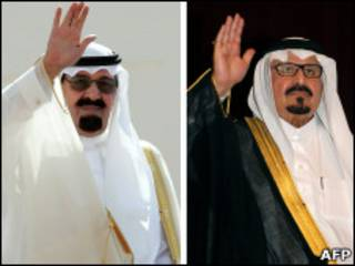 الملك عبد الله(يسار) والأمير سلطان