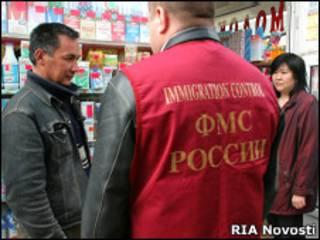 Рейд ФМС по рынка Москвы