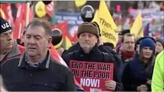 مظاهرات ضد السياسات التقشفية في ايرلندا