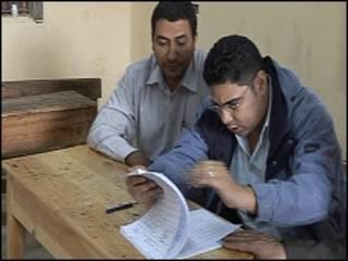 Избирательный участок в Египте