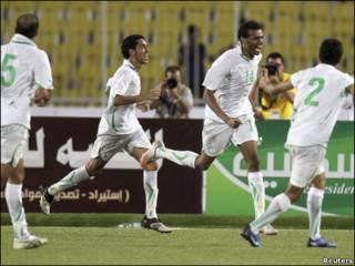 فرحة لاعبي السعودية
