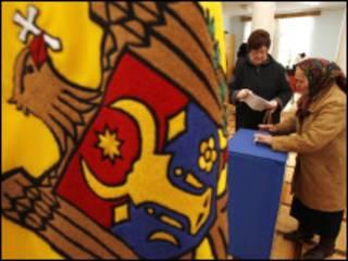На избирательном участке в Молдавии