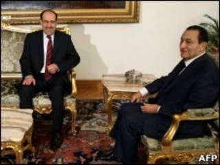 مبارك والمالكي في القاهرة