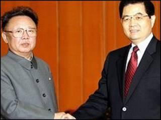 الزعيمان الصيني الكوري الشمالي