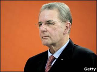 Президент МОК Жак Рогге на играх в Азии