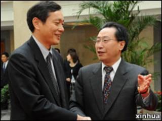武大偉在北京會見齋木昭隆 (2008年資料圖片)