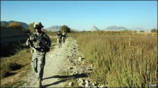 سرباز آمریکایی در قندهار