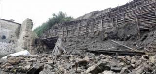 Muro colapsado