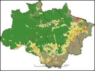 Mapa deforestación de la Amazonia en el período 2009/2010. Foto: INPE