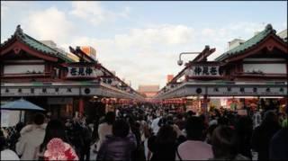 Chợ tại Asakusa, Nhật Bản