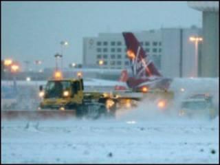 机场的铲雪车