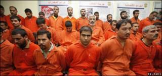 معتقلون عراقيون من الانبار