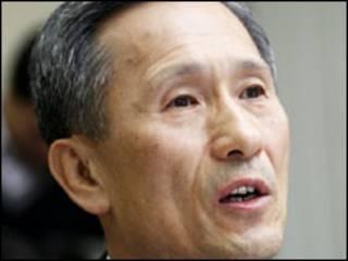Ким Кван Чжин выступает в парламенте