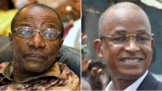 Alpha Condé  et Cellou Dallein Diallo