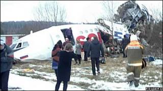 На місці аварії ТУ-154, фото Рейтер