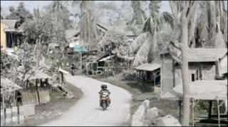 Kondisi desa dekat Merapi
