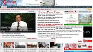 Trang VietnamNet khi bị tấn công