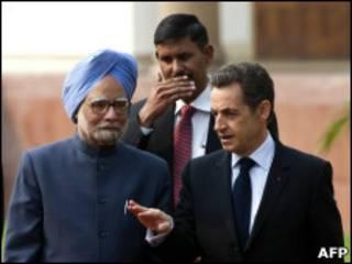 Премьер-министр Индии и президент Франции