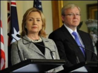Clinton and Rudd