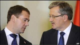 Медвєдєв і Коморовський: відносини тепліші