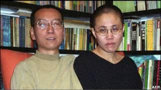 Лю Cяобо з дружиною