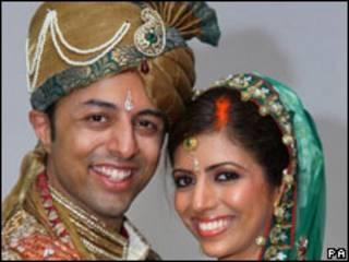 Shrien e Anni Dewani em foto do casamento