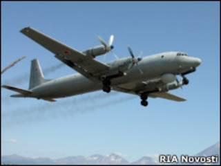 Ил-38 на учениях на Камчатке