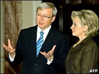Кевид Радд, Хиллари Клинтон (архивное фото)