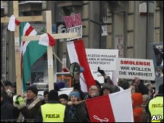 Протесты в Варшаве