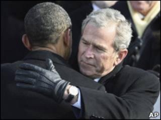 Джордж Буш и Барак Обама