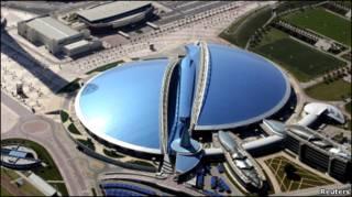 صورة من الجو لأحد ملاعب قطر