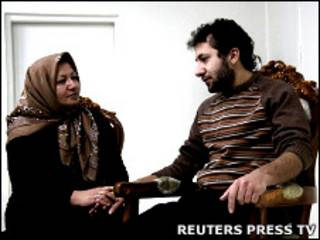 Sakineh Ashtiani e seu filho, Sajjad Ghaderzadeh
