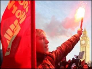 Протесты студентов в Лондоне
