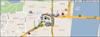 Captura del mapa interactivo