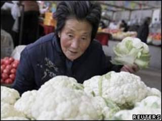 سوق خضار صيني